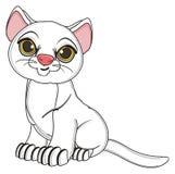 Uśmiechnięty kot siedzi royalty ilustracja