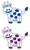Uśmiechnięty krowa profil Obraz Stock