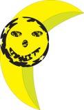 Uśmiechnięty księżyc wektor Obrazy Royalty Free