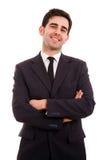 Uśmiechnięty młody biznesowy mężczyzna zdjęcia royalty free