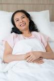 Uśmiechnięty pacjent fotografia royalty free