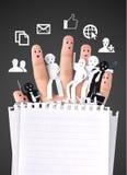 Uśmiechnięty palec dla symbolu biznesowa ogólnospołeczna sieć Zdjęcia Royalty Free