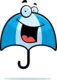 uśmiechnięty parasol Obraz Royalty Free