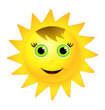 uśmiechnięty słońce ilustracji
