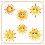 Uśmiechnięty słońce royalty ilustracja