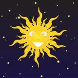 Uśmiechnięty słońce Zdjęcia Royalty Free
