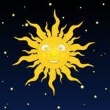 Uśmiechnięty słońce Zdjęcie Stock