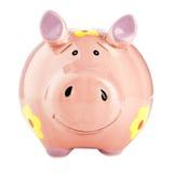 Szczęśliwy prosiątko bank Zdjęcia Royalty Free