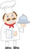 Uśmiechnięty szef kuchni royalty ilustracja