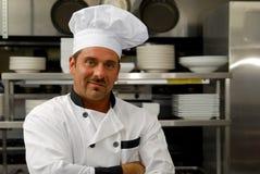 uśmiechnięty szef kuchni mundur Obraz Stock