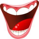 Uśmiechnięty usta odizolowywający Obrazy Royalty Free