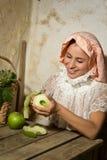Uśmiechnięty wiktoriański portret Zdjęcie Royalty Free