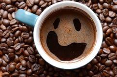 uśmiechnij się kawy Zdjęcia Stock