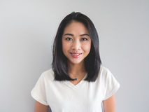 Uśmiechu azjata kobieta zdjęcia royalty free