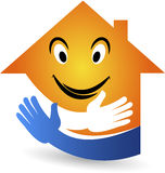 Uśmiechu domowy logo Zdjęcia Royalty Free