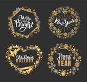 Uświęcony Byczy wycen Wesoło bożych narodzeń nowego roku wakacje ilustracji
