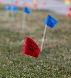 Użyteczności lokaci flaga Fotografia Stock