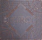 Użyteczności pokrywa w Detroit Zdjęcia Royalty Free