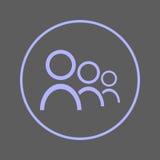 Użytkownik kurendy linii ikona Ludzie Round kolorowego znaka Drużynowy mieszkanie stylu wektoru symbol ilustracji