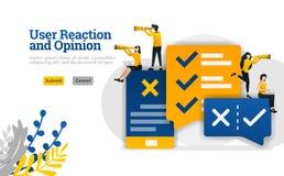 Użytkownik rozmowy i reakcji opinia z apps dla wprowadzać na rynek i reklamowy przemysłu ilustracyjny pojęcie może być używa dla, royalty ilustracja