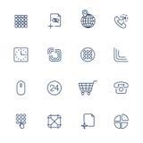Użytkownika interfejsu różne ikony Zdjęcia Stock