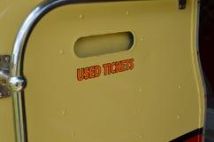 Używać biletowy jałowy kosz Fotografia Stock
