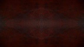 Używać Ciemna Brown tła Rzemienna Bezszwowa Deseniowa tekstura dla Meblarskiego materiału zdjęcia royalty free
