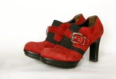 Używać galanteryjni rubinów buty dla żeńskich istot ludzkich Zdjęcie Stock