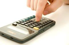 używać kalkulatora Obrazy Stock