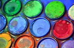 Używać kolorowa paleta, artysty ` s kolorowa paleta, zakończenie up Fotografia Stock