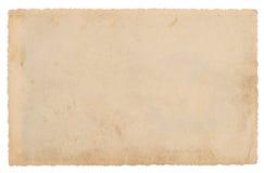 Używać papieru prześcieradło odizolowywający na białym tle struktura grungy Fotografia Stock