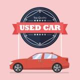 Używać samochód z sztandarem Obrazy Royalty Free