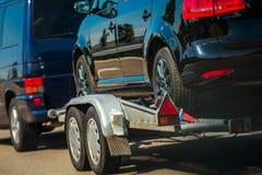 Używać samochody Importuje w UE zdjęcia royalty free