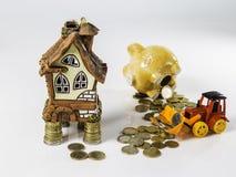 Używać savings kupować dom Obraz Royalty Free