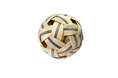 Używać Sepak Takraw piłka - odosobniona Zdjęcie Royalty Free