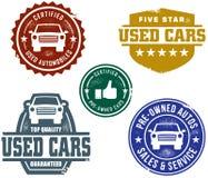 używać sprzedaż samochodowi znaczki Zdjęcia Royalty Free