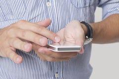 Używać telefon komórkowego zdjęcie stock