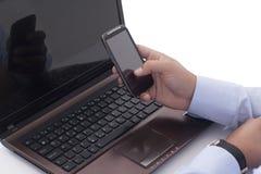 Używać telefon komórkowego obrazy stock