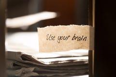 Używać twój mózg Obrazy Stock