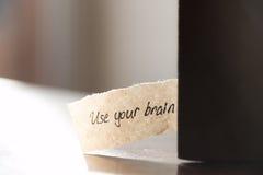 Używać twój mózg Zdjęcia Royalty Free