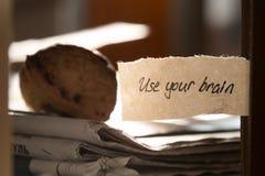 Używać twój mózg Obrazy Royalty Free