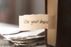 Używać twój mózg Obraz Royalty Free