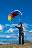 Używać wiatrową energię Zdjęcia Stock