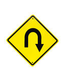 U字型转向公路交通符号 免版税库存图片