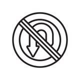 U字型转向象在白色背景和标志隔绝的传染媒介标志, U字型转向商标概念 向量例证