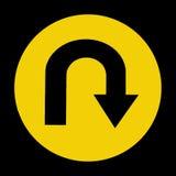 U字型转向Roadsign 免版税库存图片