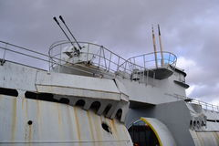U小船利物浦停泊在seacombe 免版税库存图片