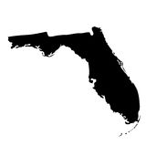 U的地图 S 状态佛罗里达 免版税库存图片