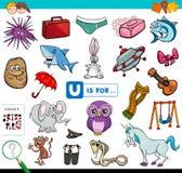 U é para o jogo educacional para crianças ilustração royalty free