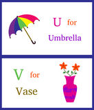 U και Β αλφάβητου Στοκ Εικόνες